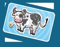 La carte 'vache'